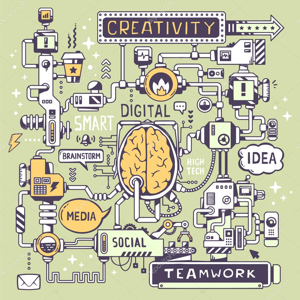 Model work of a brain center