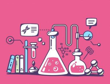 Chemical laboratory flasks