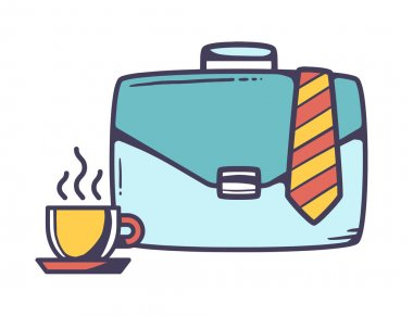 Case with cup of coffee