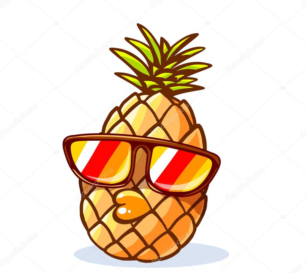 pineapple with sunglasses clipart. hipster pineapple with sunglasses \u2014 stock vector #80845418 clipart e