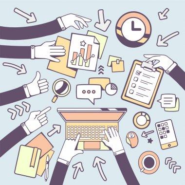people communication in meeting room