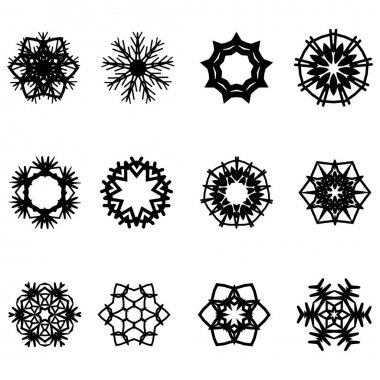 Icon set of snowflake. Editable vector pictograms isolated on a white background. Trendy outline symbols for mobile apps and website design. Premium pack of icons in trendy line style. icon