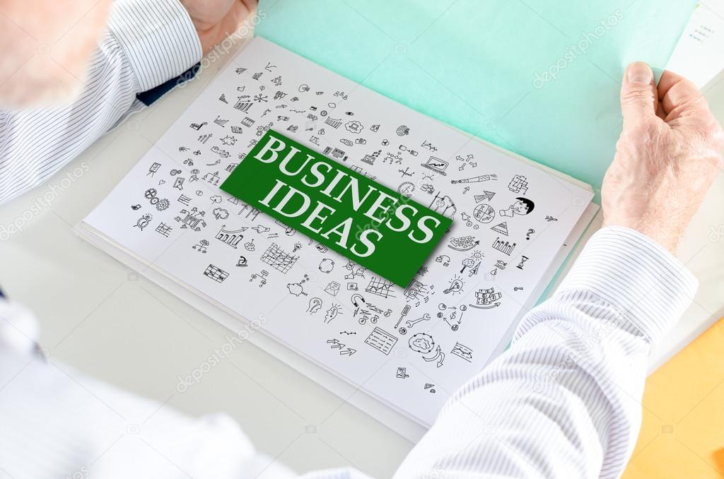 Business Ideas Concept On A Paper Stock Photo C Thodonal 121645978