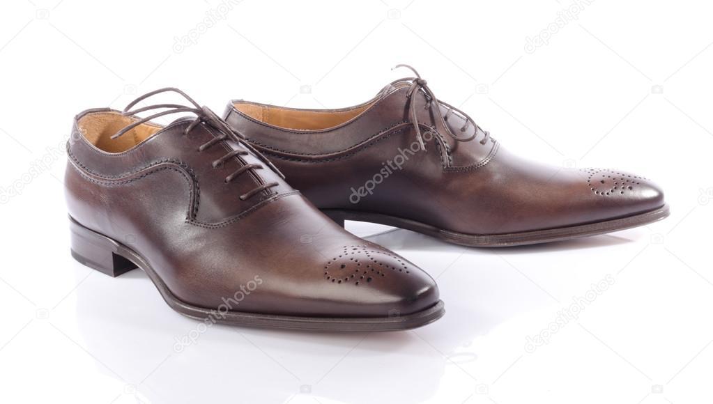 Luxus braun-Schuhe, isoliert auf weiss — Foto von thodonal b894927e6f
