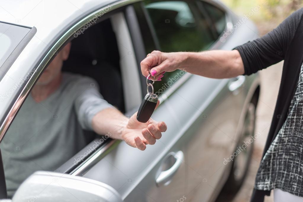 Man getting his car keys
