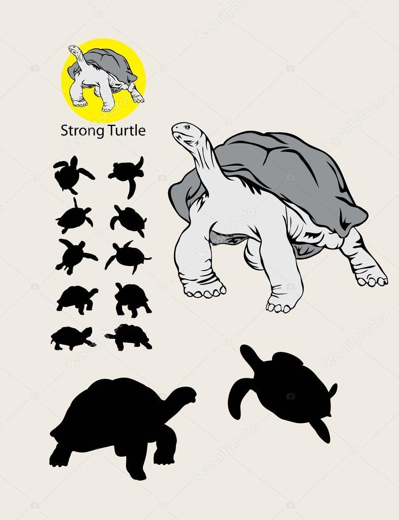 Siluetas De Tortugas Para Imprimir Logo Y Siluetas De Tortuga