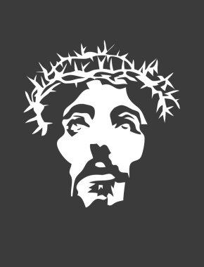 Jesus Face Silhouette