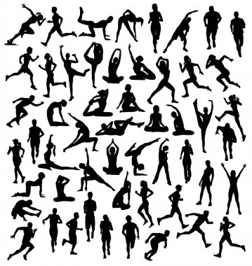 Various Silhouettes Sports Activities