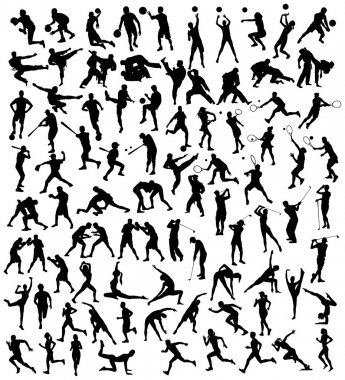 Various Silhouette Sports Activities