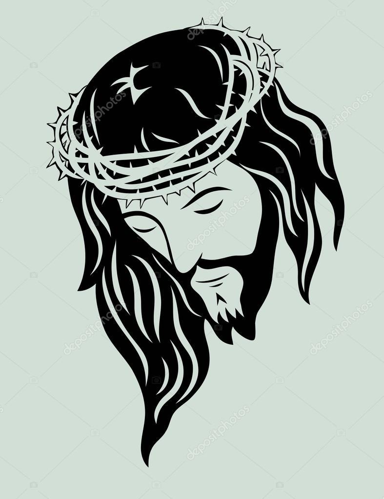 Jesus christ face stock vector sumbajimartinus 75540921 for Immagini vector