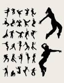 Fotografia Sagome di ballerini di Hip-Hop