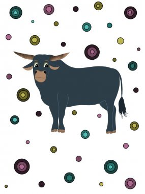 Backgrounds with bull. Christmas and happy new year