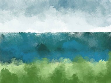 Backgrounds with green sea