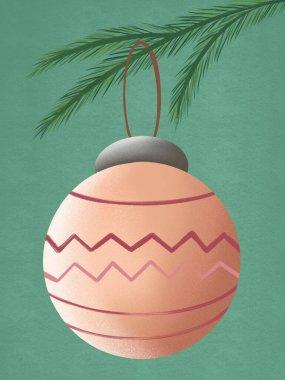 Christmas tree and orange ball