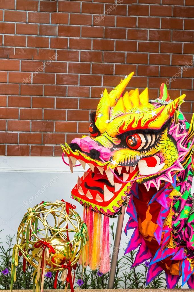 Costume de danse de dragon chinois photographie - Photo de dragon chinois ...