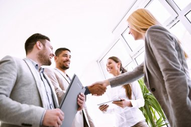 Business agreement,handshake between two business executives