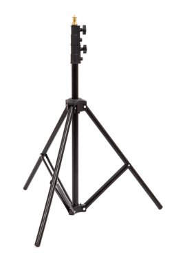 Tripod for studio lighting isolated on the white. Light stand