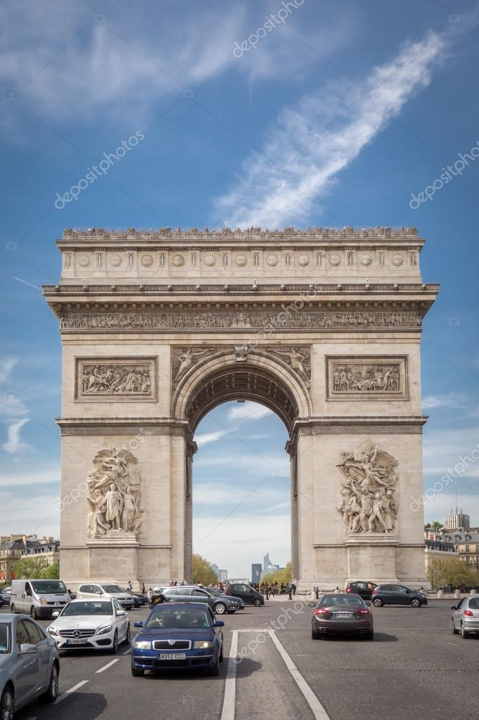 paris france april 15 2015 the arc de triomphe on april 15