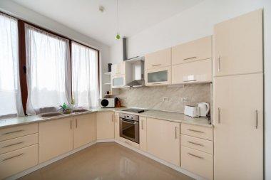Modern kitchen interior. Interior photography.