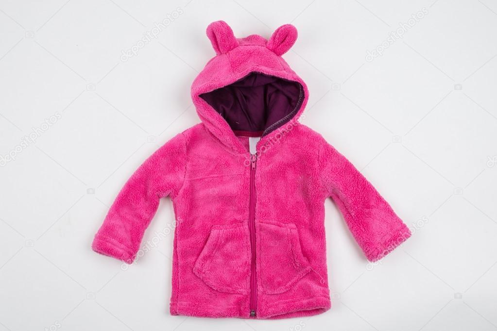 1511fdced Cute pink children s winter jacket — Stock Photo © dechevm  88908756
