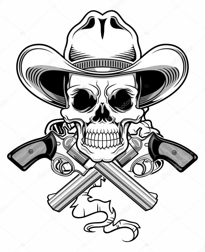 outlaw skull � stock vector 169 guntariana 63211183