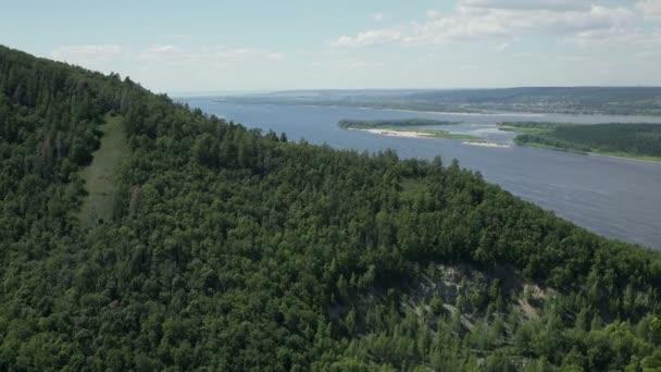 Mountain View and Volga river at national park.
