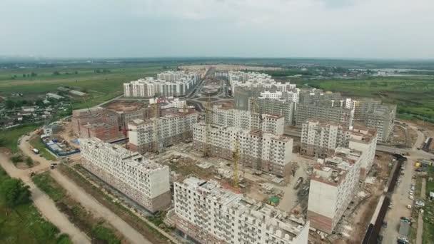 Luftaufnahmen vom Bau neuer Schlafquartiere.
