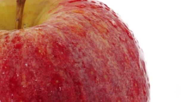 Čerstvé jablko rotují na bílém pozadí