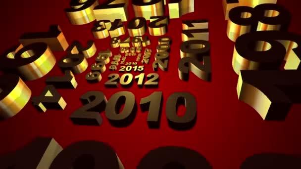 Nový rok 2016 kalendář animace
