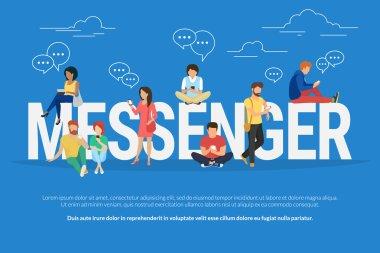 Messenger concept illustration