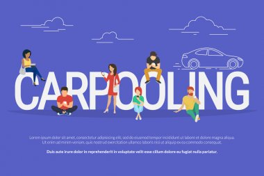 Carpooling concept illustration