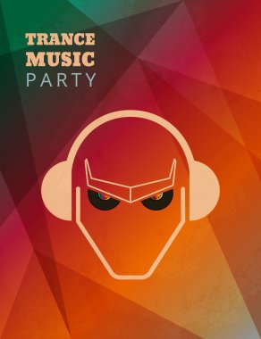 Trance music party poster