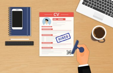 Businessman accepted CV