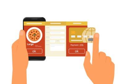 Mobile app for ordering pizza