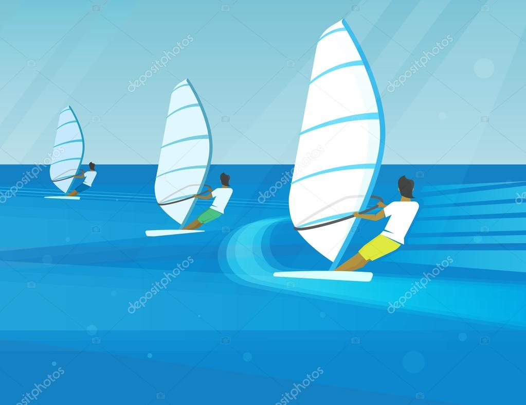 Windsurfing competition