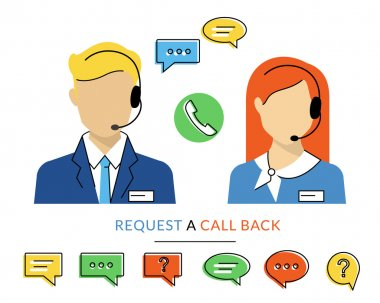 Female and male call centre operator