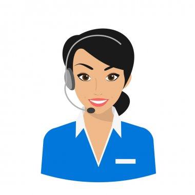 Female call centre operator
