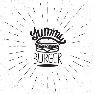 Yummy burger vintage label