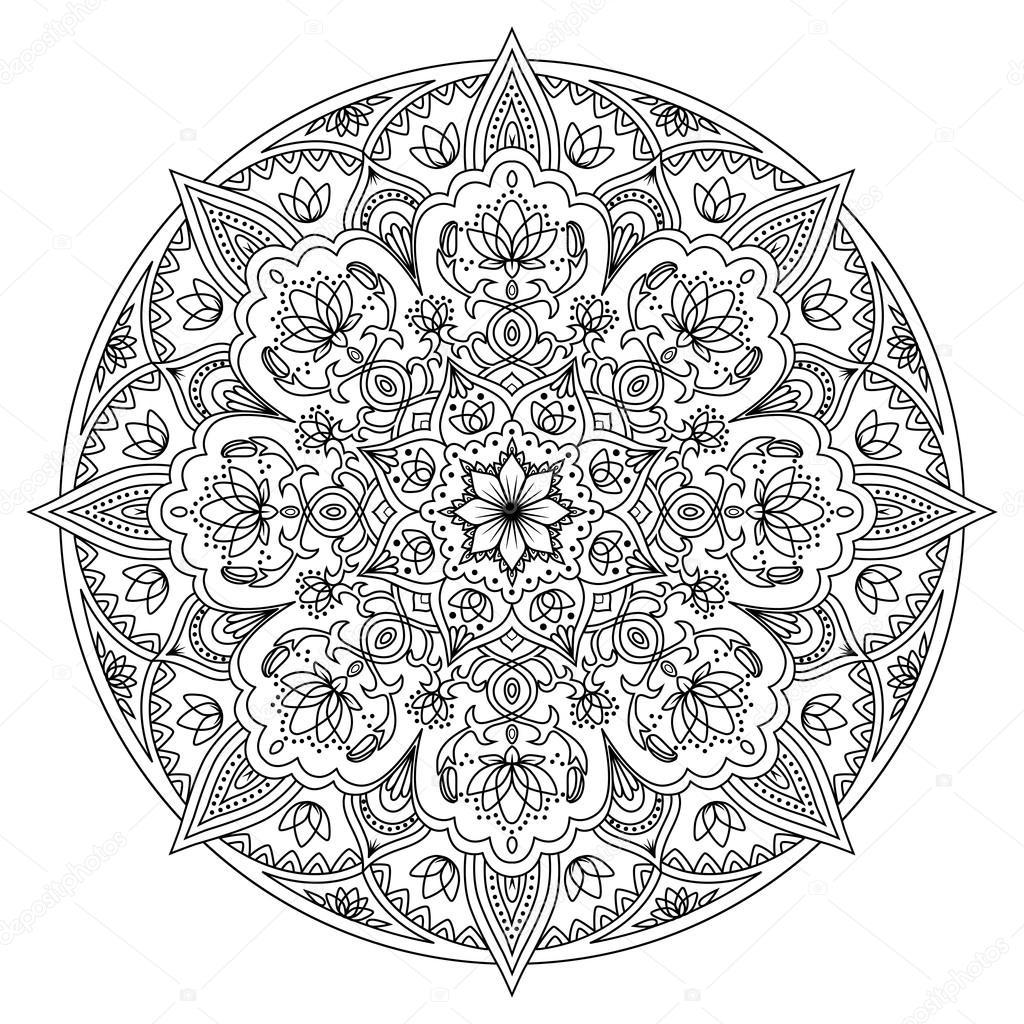 Modelo oriental de Mandala — Vector de stock ...