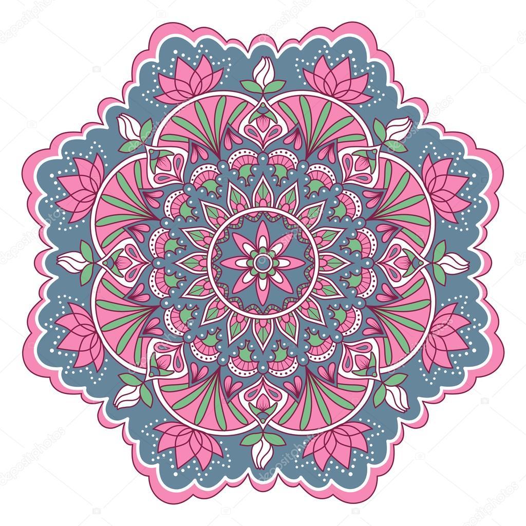 Mandala color pattern Stock Vector AnnaGarmatiy 122267164