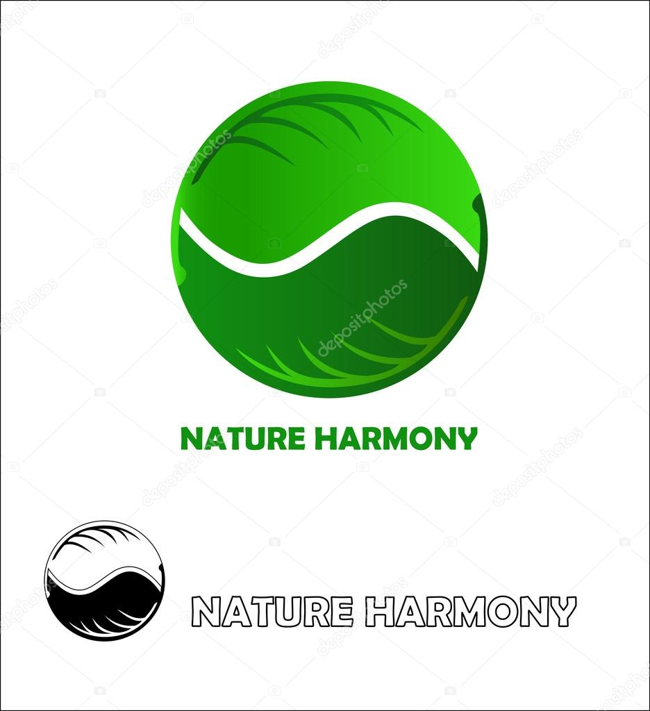 Nature harmony logo design template