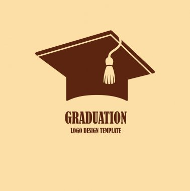 Graduation cap logo design