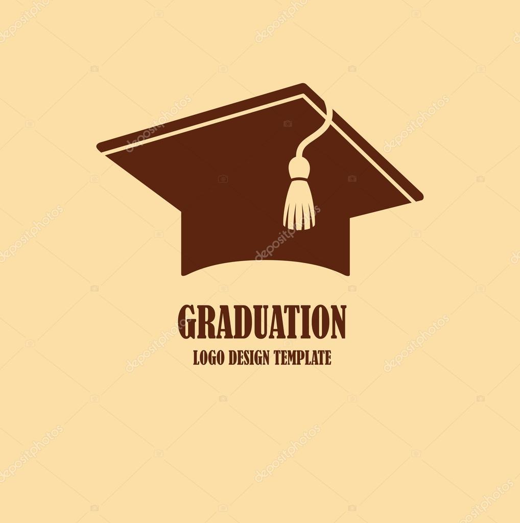 graduation cap logo design stock vector annagarmatiy 61271427