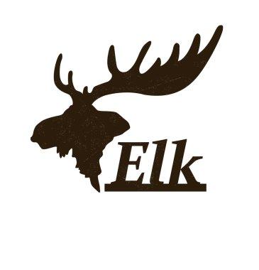 Elk logo design template