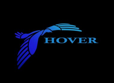 Flying bird logo design template
