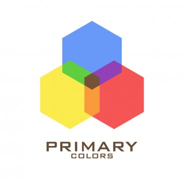 Primary color logo design template