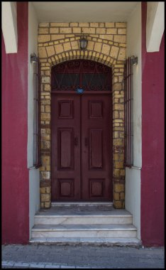 Color beautiful old house doors