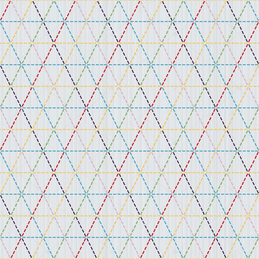 Que teje. Motivo japonés sashiko. Patrón transparente — Vector de ...