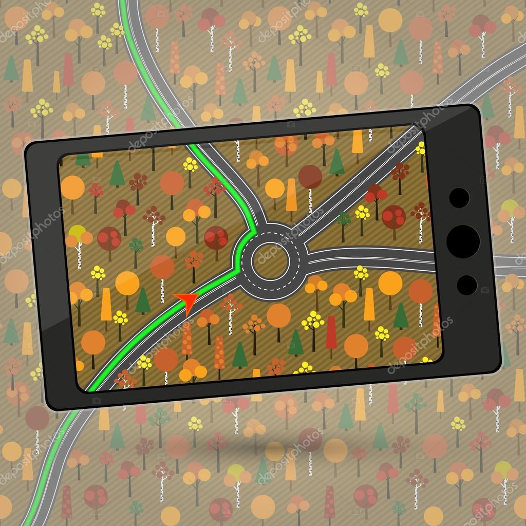 Device with GPS module  — Stock Vector © Lora-Sutyagina #61774445