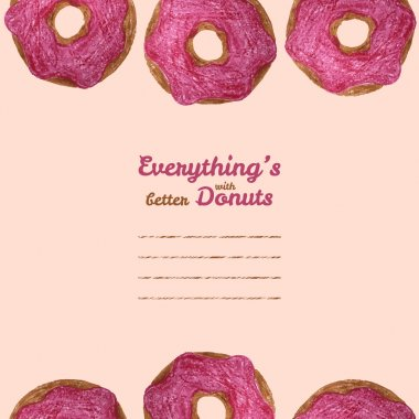 'Everything's better with donuts' text frame. Donut illustration
